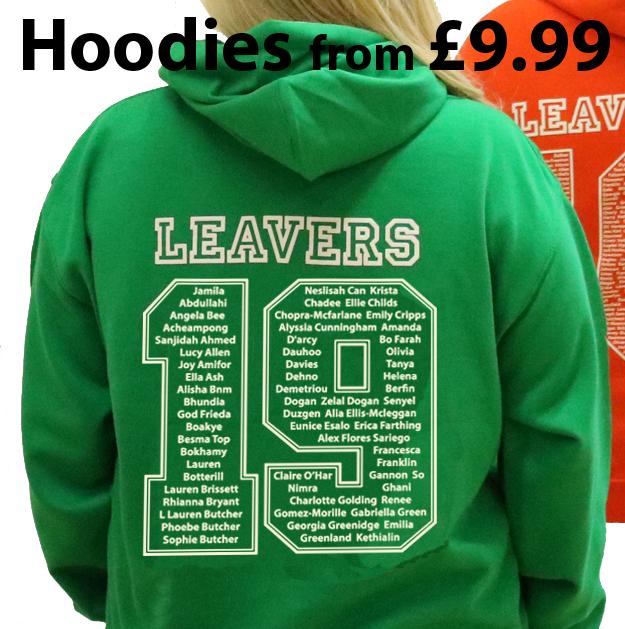 leavers hoodies'19